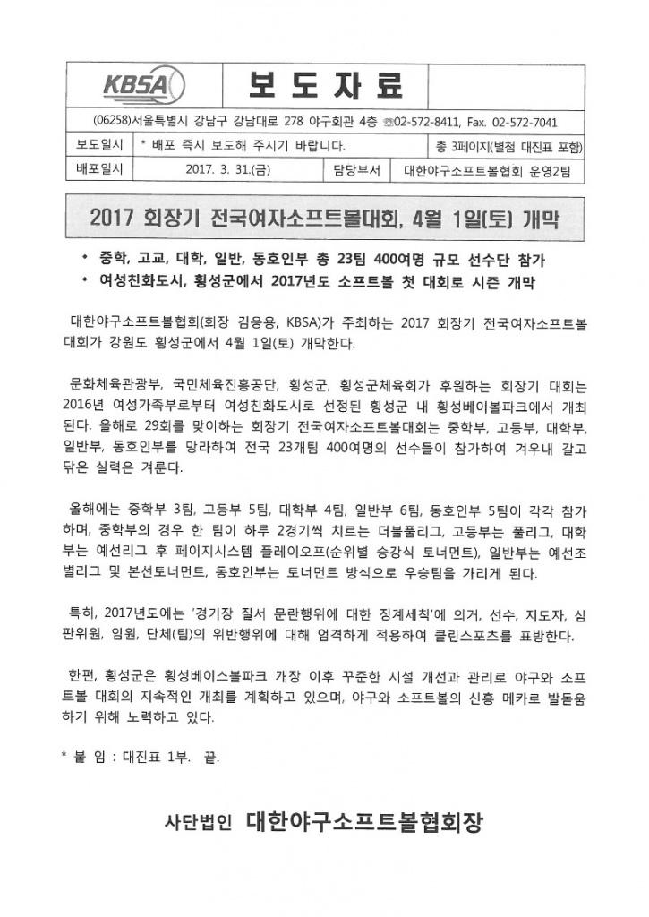 2017 회장기 전국여자소프트볼대회 개막.jpg