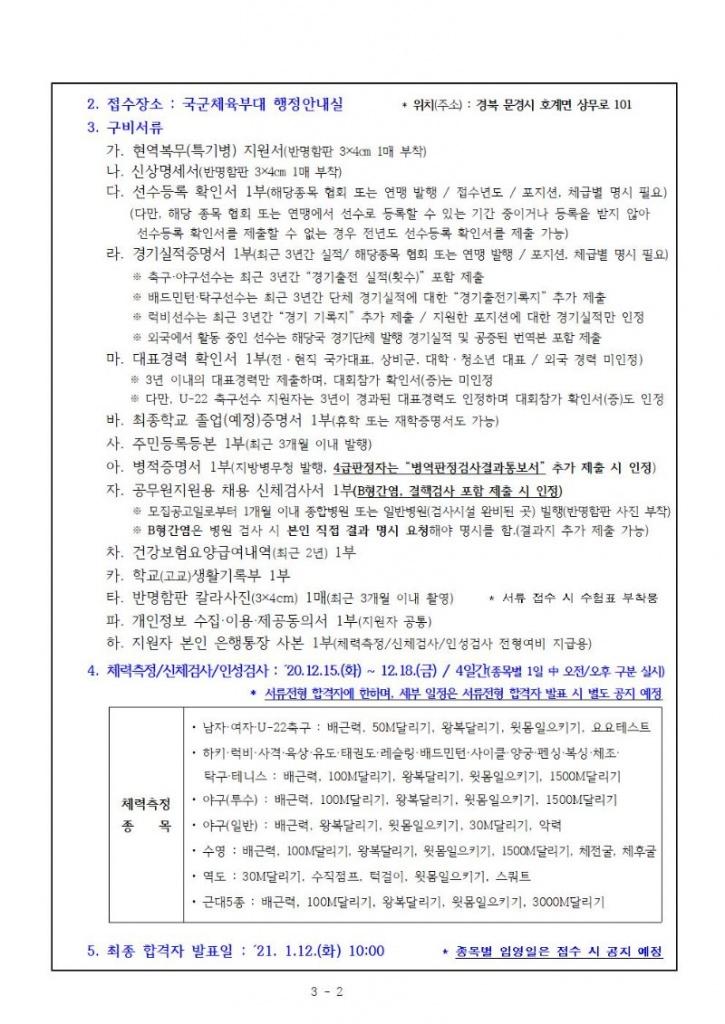 붙임  부사관, 병 선수 모집요강(21년 1차 최종)004.jpg