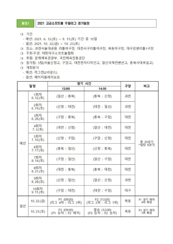[보도자료] 2021 고교소프트볼 주말리그 6월12일(토) 개막002.jpg